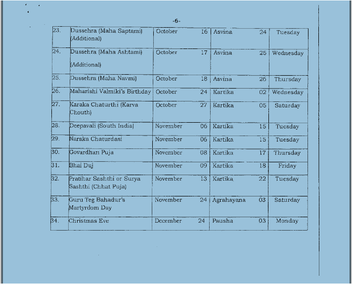 list-of-holidays-to-be-observed-in-kvs-paramnews-3