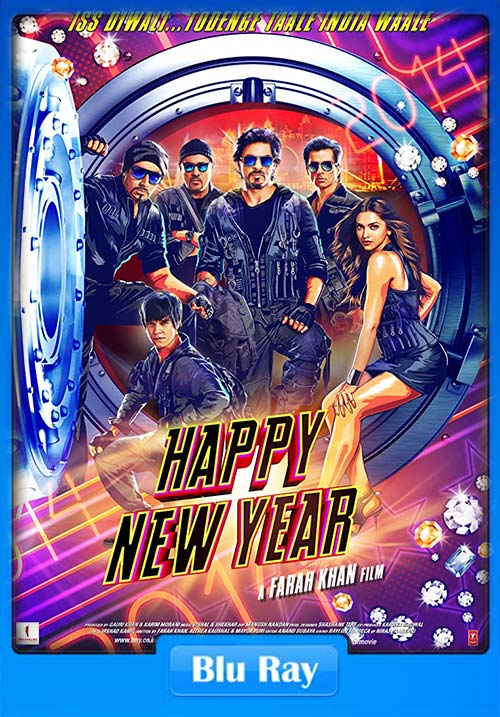 Happy New Year 2014 Hindi 480p BluRay x264 | 300MB 480p | 100MB HEVC