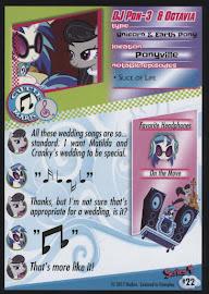 MLP DJ Pon-3 & Octavia Series 4 Trading Card