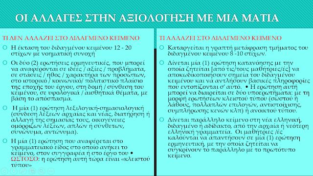 Όλες οι αλλαγές στην αξιολόγηση των Αρχαίων με μια ματιά!