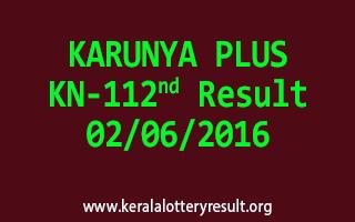 KARUNYA PLUS KN 112 Lottery Result 2-6-2016