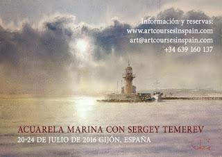 curso de acuarela Sergey Temerev