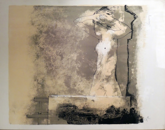 Jean Jansem arte litografía, obra gráfica barato arte moderno modelo en el taller