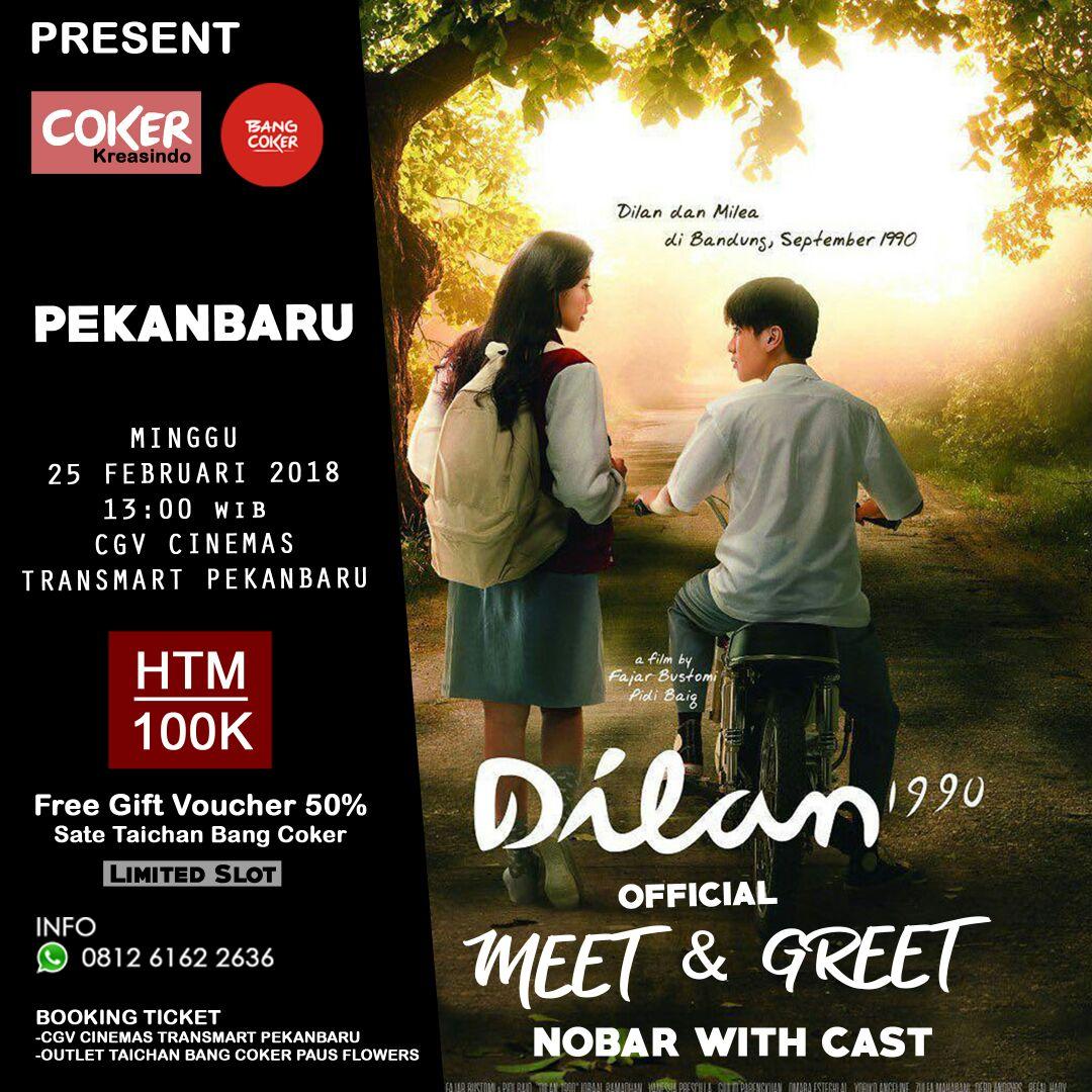 Ikutan Meet & Greet bareng Pemain Film Dilan 1990 di Transmart Pekanbaru? Begini Caranya...