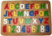 Mainan Puzzle Kayu Alphabet Dan Numerik