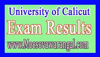 University of Calicut Master Of Communication / Journalism IVth Sem (CCSS) June 2016 Exam Results