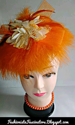 Orange wedding fascinators in Kenya
