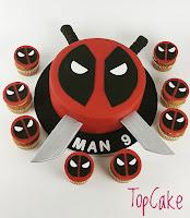 Supersankarikakku ja cupcakes, syntymäpäiväkakku, kuppikakku, juhlakakku, suklaakakku, topcake, satuhahmokakku,