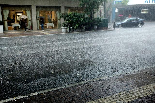 Έντονη βροχόπτωση στην Αττική
