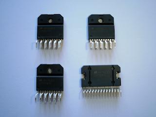Integrados LM3875, LM3876, LM3886 e LM4780.