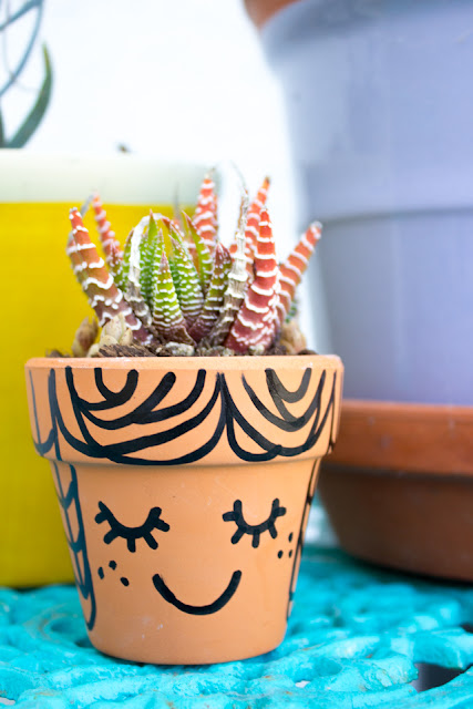 DIY Succulent Clay Face pots (A sweet Mother's Day craft for kids)