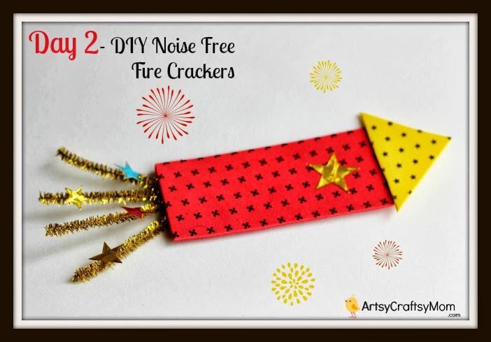 Diwali Craft Ideas For Kids Part - 34: Diwali-Foam-Firecracker-craft