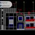 مخطط مشروع فيلا modern اوتوكاد dwg