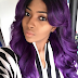 Lilian Esoro shows off her purple hair