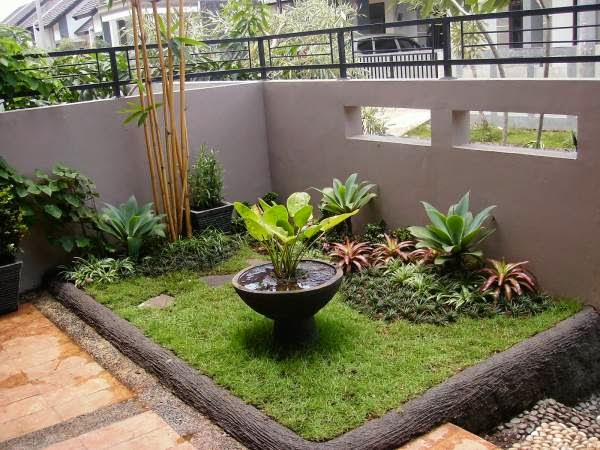 taman rumah minimalis cantik model terbaru