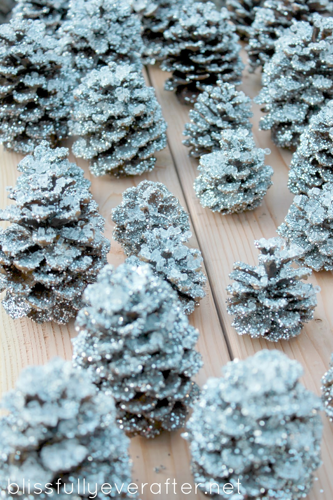 Knockoff Pottery Barn Glitter And Snow Pinecones 187 Grace