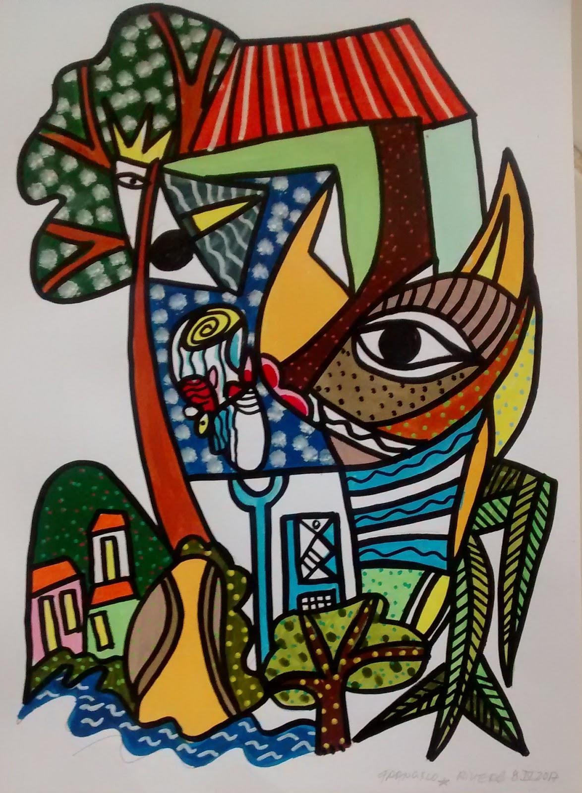Blog du peintre francisco rivero el espiritud del tiempo for Nouvelle peinture murale