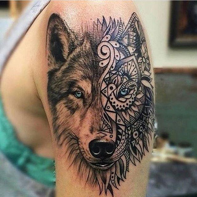 Arte Tattus Artattus Tatuaje De Lobo Tattoo Of Wolf