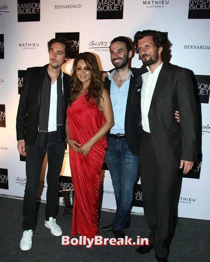 , Gauri Khan Photos in Red Gown Dress
