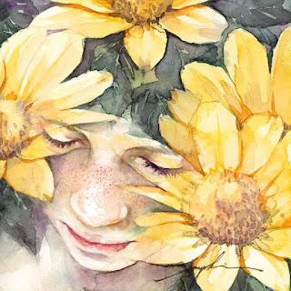 pintura-acuarela-rostros-femeninos