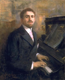 Reynaldo Hahn, painting by Lucie Lambert, 1907.