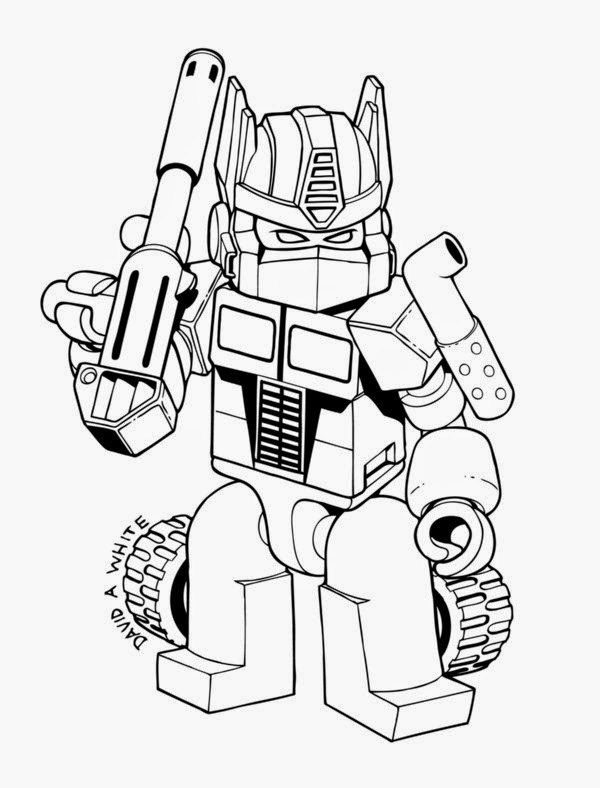 Coloring Pages transformers Optimus Prime printable