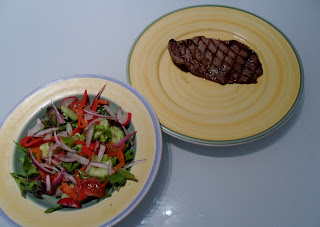 Minute Steak with Salad