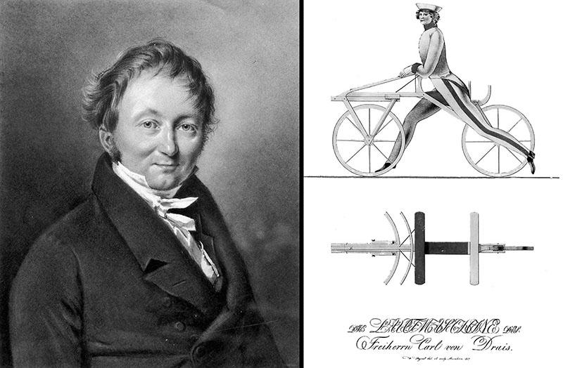 Карл фон Дрез изобретатель велосипеда