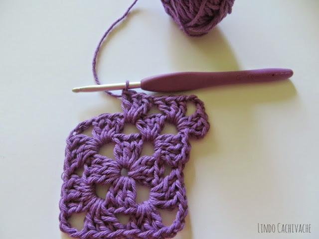 tutorial crochet cuadradito tejido
