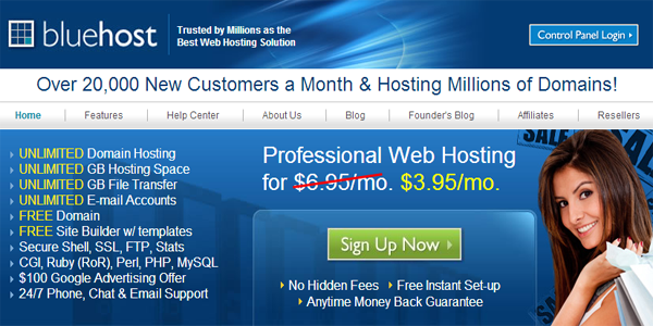 review web hosting bluehost