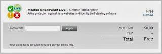 McAfee SiteAdvisor Serial Key