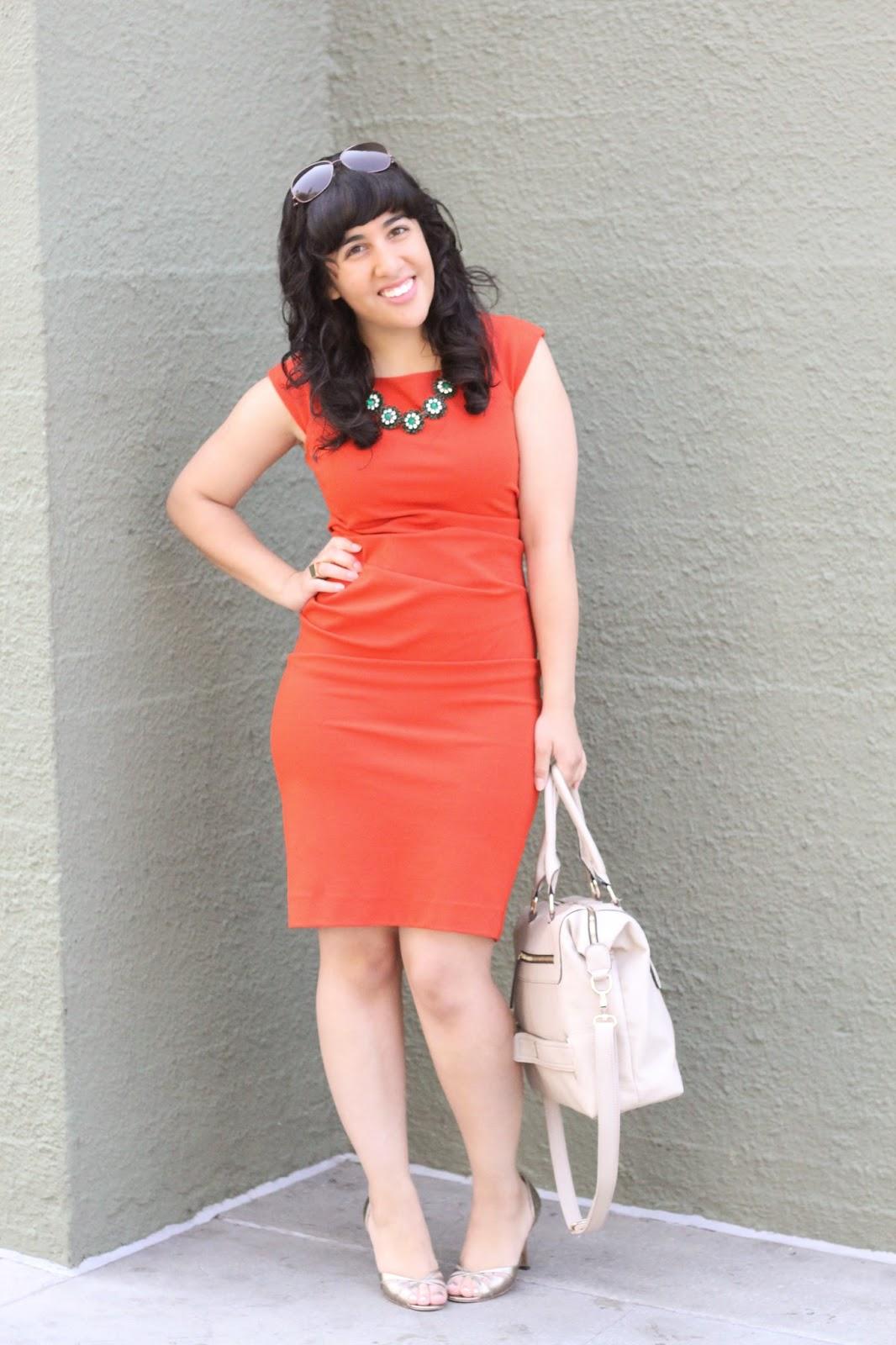 Orange DVF Dress