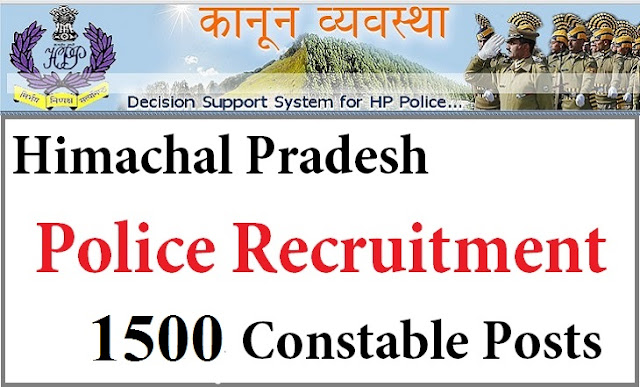 HP Police 1500 Constable recruitment 2016 himexam