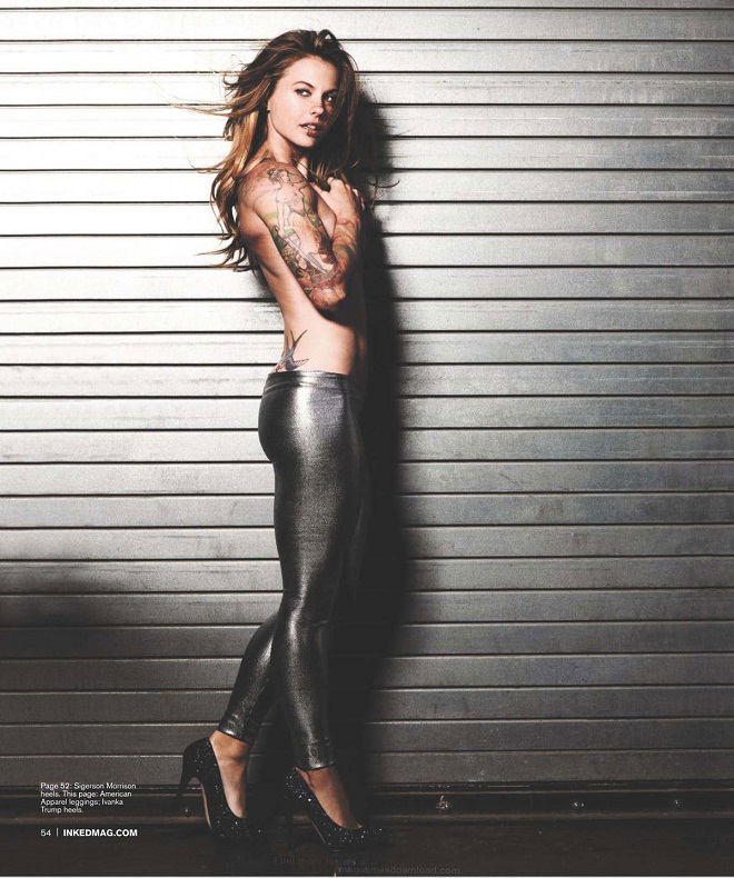 Christmas Abbott poses nude for Inked Magazine