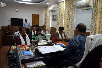 Mungpoo morcha delegation met NHPC chief engineer sk agrawal