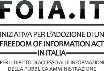 Logo del FOIA, l'appello per un Freedom of Information Act in Italia