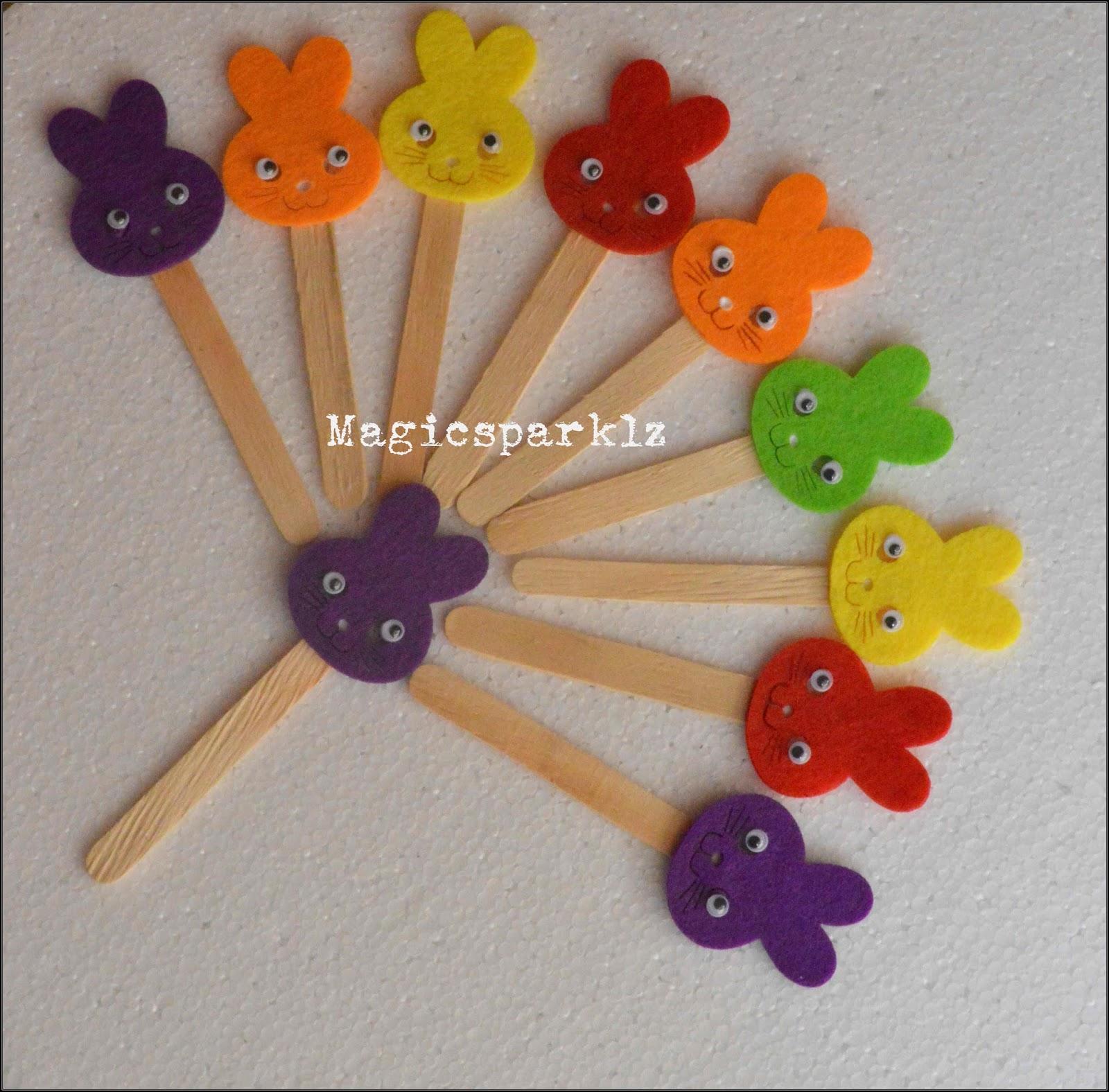 Magic Sparklz Diy Cute Foam Popsicle Stick Bookmark