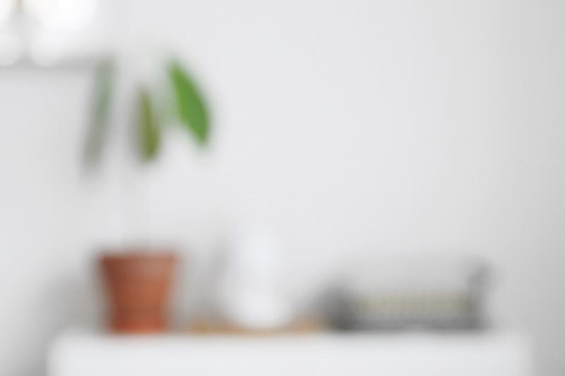 Wohnblog Dekoblog Sideboard Dekorieren Avocado Pflanze weiss Unschärfe Fotografie