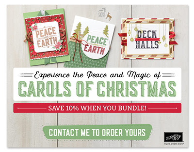 "Get your Stampin' Up! ""Carols of Christmas"" stamps and framelits.... a whole month early"