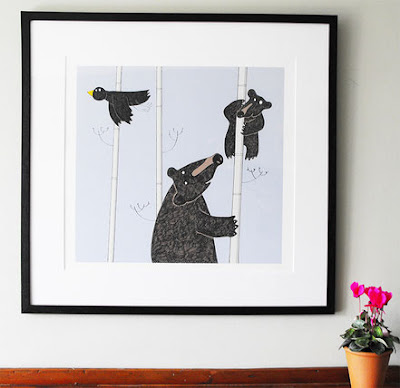 Mother and Baby Bear print by Lucy Gell