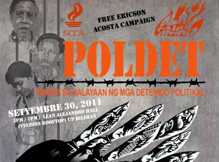 Free Ericson Acosta: POLDET: Panata sa Kalayaan ng mga