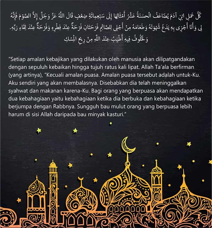 Pahala Ibadah Puasa Ramadhan