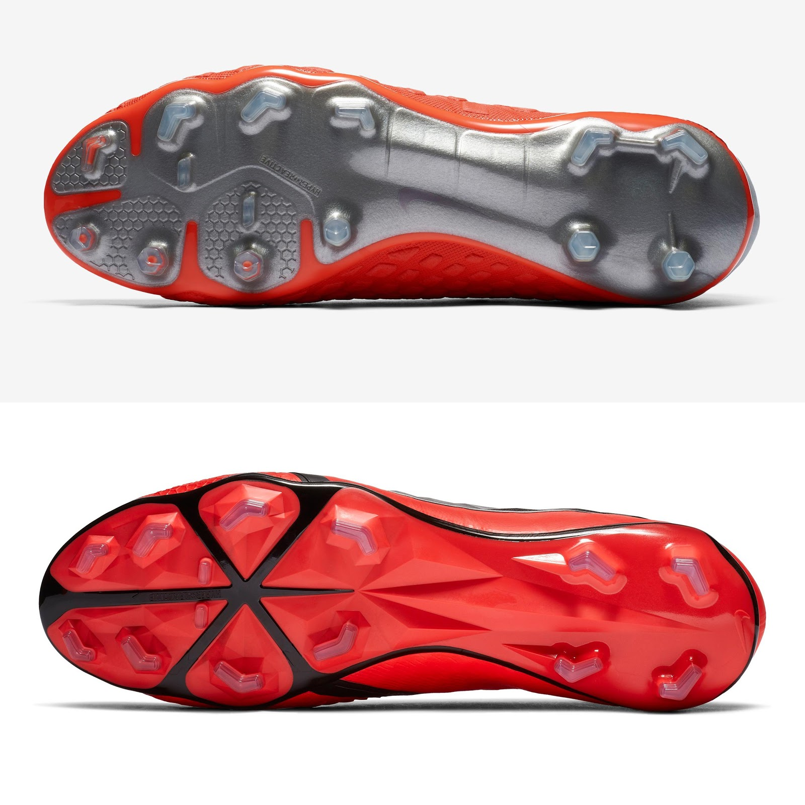 f2eb56a96 The sole plates of the Nike Hypervenom III Elite soccer cleat and the Nike  Phantom VNM soccer cleat are both made for acceleration, agility and speed.
