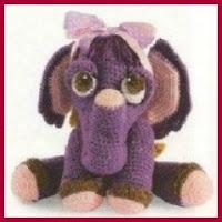 Elefanta bailarina amigurumi