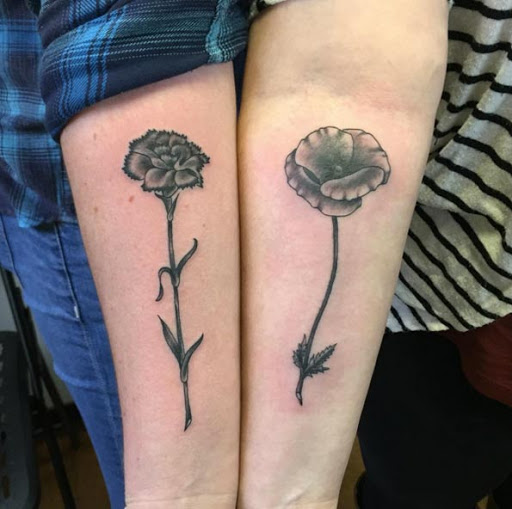 Estes preto e cinza tinta flores