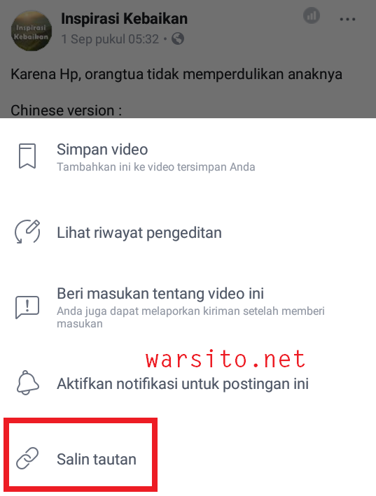 cara download video facebook lewat android
