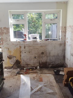 A ripped out Kitchen