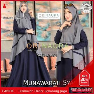 Jual RRJ318D202 Dress Munawarah Syari Wanita St Terbaru Trendy BMGShop