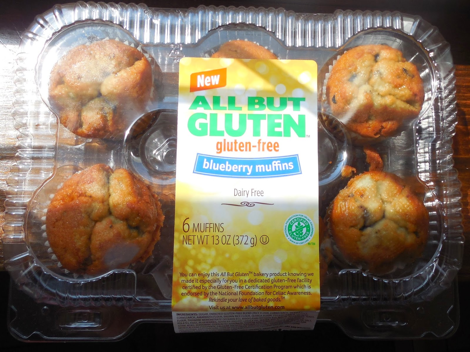 All But Gluten Blueberry Muffins