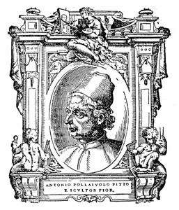 The portrait of Antonio del Pollaiuolo that appeared in Giorgio Vasari's Lives of the Artists